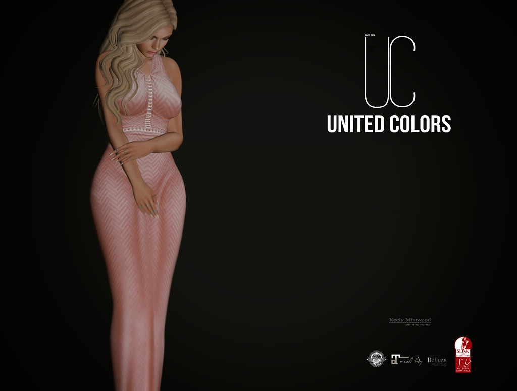 United Colors Victoria Dress available in 10 colors at Kustom9 Event July 15. - SecondLifeHub.com