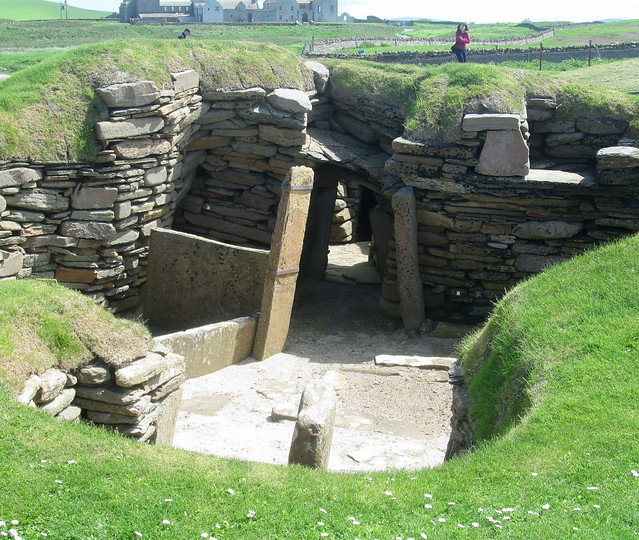 Neolithic Workshop, Skara Brae, from North