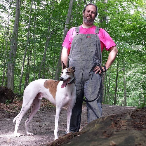 The dee-oh-gee and me #Cane #DogsOfInstagram #greyhound #overalls #dickiesworkwear #HickoryStripe #dungarees #denim #biboveralls #KnoxFarm #EastAurora #wny #summer #nofilter