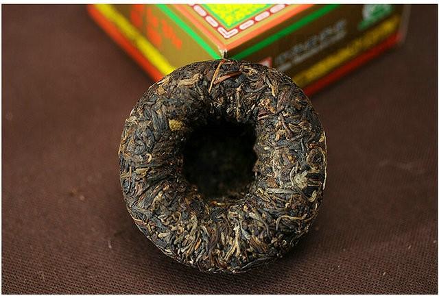 Free Shipping 2012 XiaGuan CangEr Boxed Tuo Bowl 100g YunNan MengHai Organic Pu'er Raw Tea Weight Loss Slim Beauty Sheng Cha