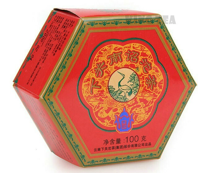 Free Shipping 2008 XiaGuan NanZhao Red Boxed Tuo Bowl 100g * 5 = 500g YunNan MengHai Organic Pu'er Raw Tea Weight Loss Slim Beauty Sheng Cha