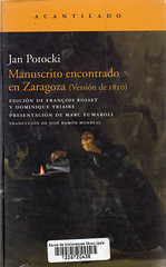 Jan Potocki, Manuscrito encontrado en Zaragoza