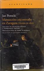 Jan Potocki, Manuscrito encontrado en Zaragoza