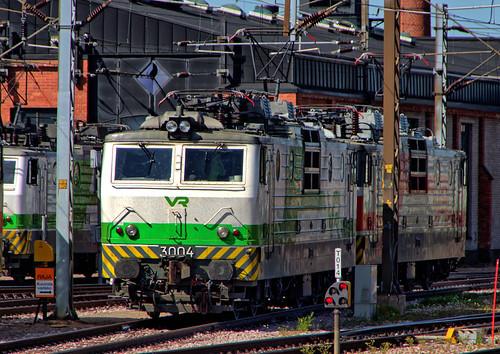 sr1 valtionrautatiet vr finnishstaterailways finland railways electric locomotive kouvola shed