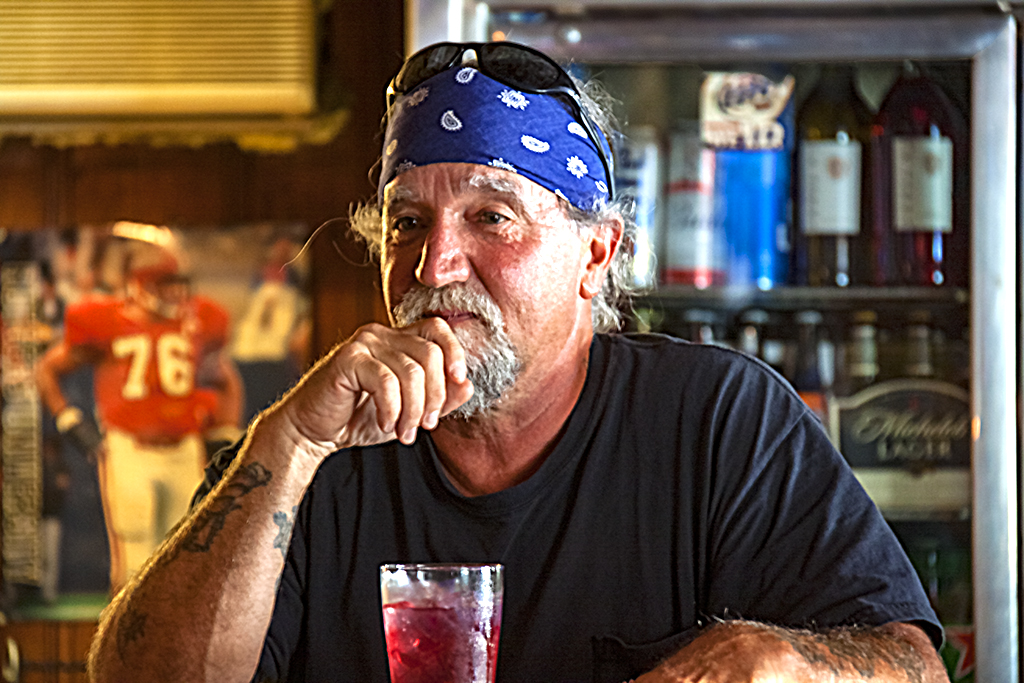 Man with bandana in Billy Boy's--Pine Barrens