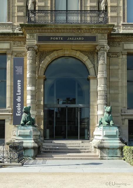 Porte Jaujard of the Louvre