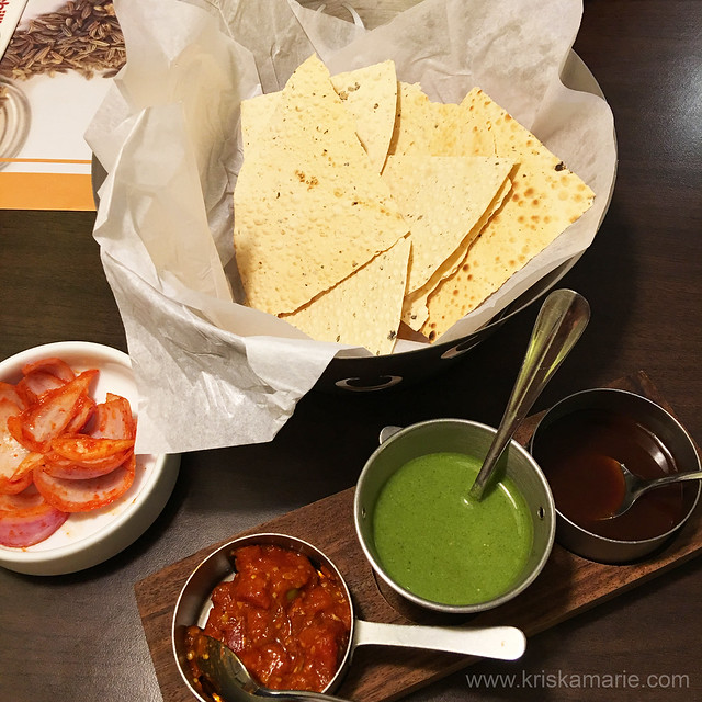 Papads and Chutneys from The Yellow Chilli
