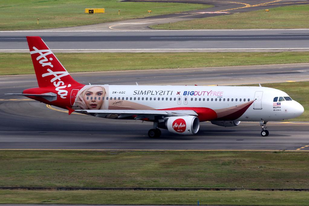 AirAsia | Airbus A320-200 | 9M-AQC | BIG Duty Free livery | Singapore Changi