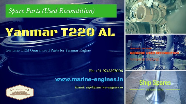 Yanmar T220 AL Spare Parts, Yanamr , ship, used, recondition, unused, genine, OEM, guaranteed, spare parts, supplier