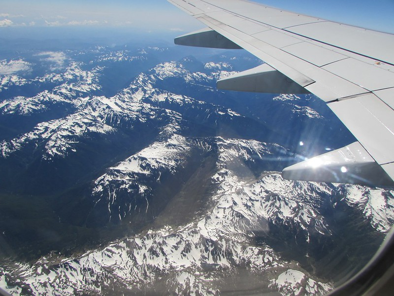 Snow capped mountains - in USA or in Canada?
