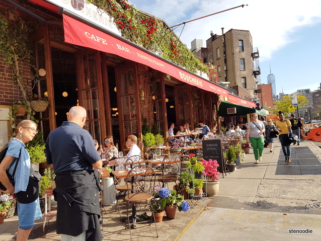 restaurant patio in Greenwich Village