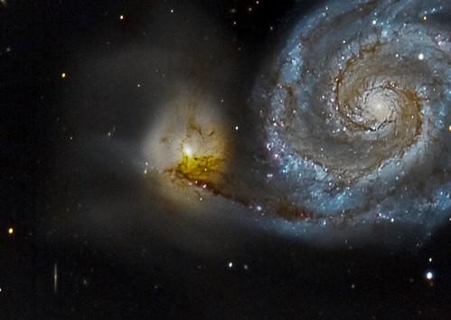 Never let you go: Messier 51 and NGC 5195, Remote, Nerpio ESP