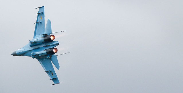 Sukhoi Su-27 'Flanker',RIAT,RAF Fairford,Gloucestershire.