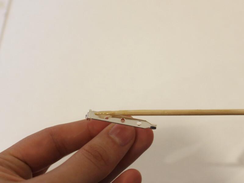 adding glue to pin