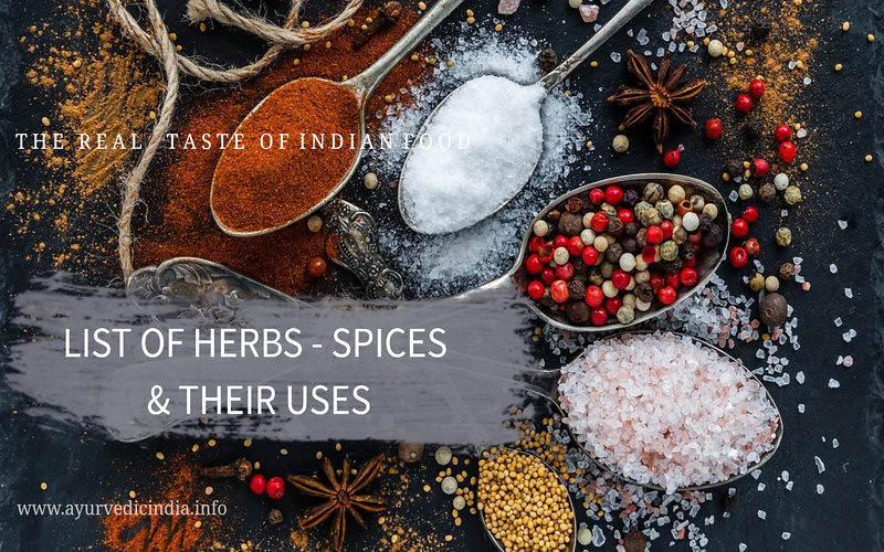 List Of Herbs And Spices And Their Uses