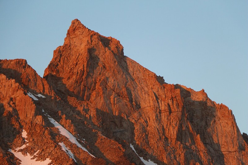 Sunset light on the southeast face of Mount Humphreys