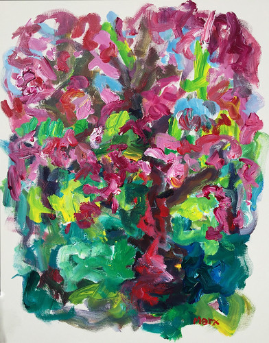 Susan Marx, Cherry Tree, 2017, 30x24, acrylic on canvas