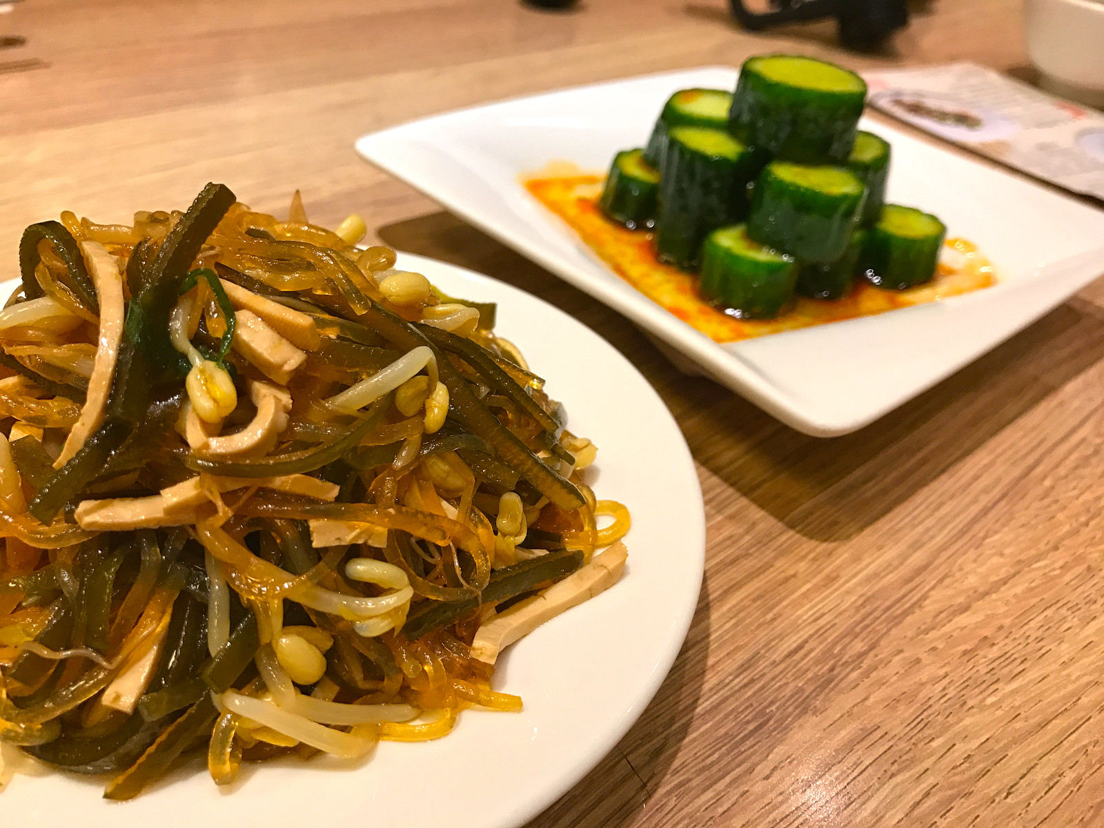 Din Tai Fung house special and spicy cucumber salad