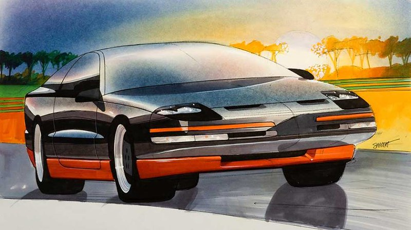 1985-1987, Gary Smith worked in Oldsmobile 1 and 2 Exterior Design Studio