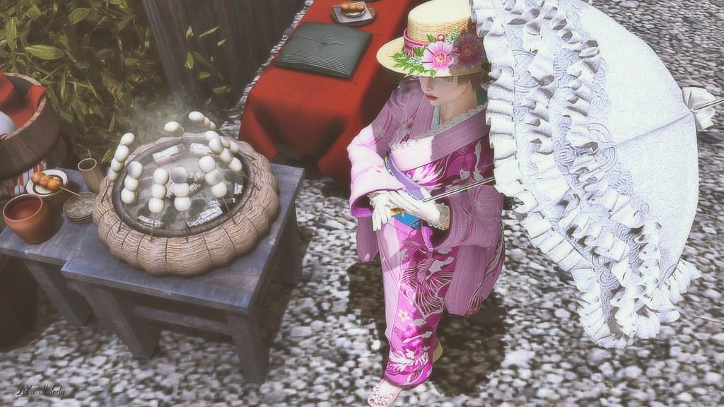 #69 *:..Silvery K..:*Summer romantic Kimono@Japonica