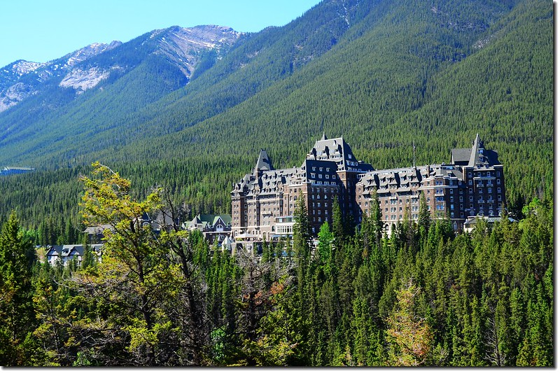 The Fairmont Banff Springs Hotel from Surprised Corner