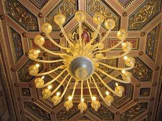 Rome_Italy_Capitoline Museum_Ceiling_chandelier_3892