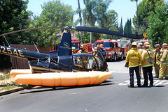 Helicopter Makes Successful Emergency Landing in Sherman Oaks