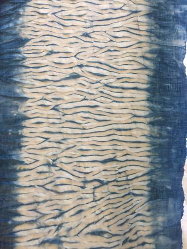 wood grain shibori mokume indigo dyeing