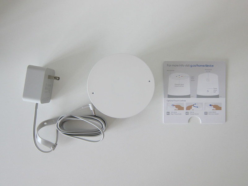 Google Home - Box Contents