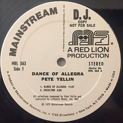 PETE YELLIN:DANCE OF ALLEGRA(LABEL SIDE-A)