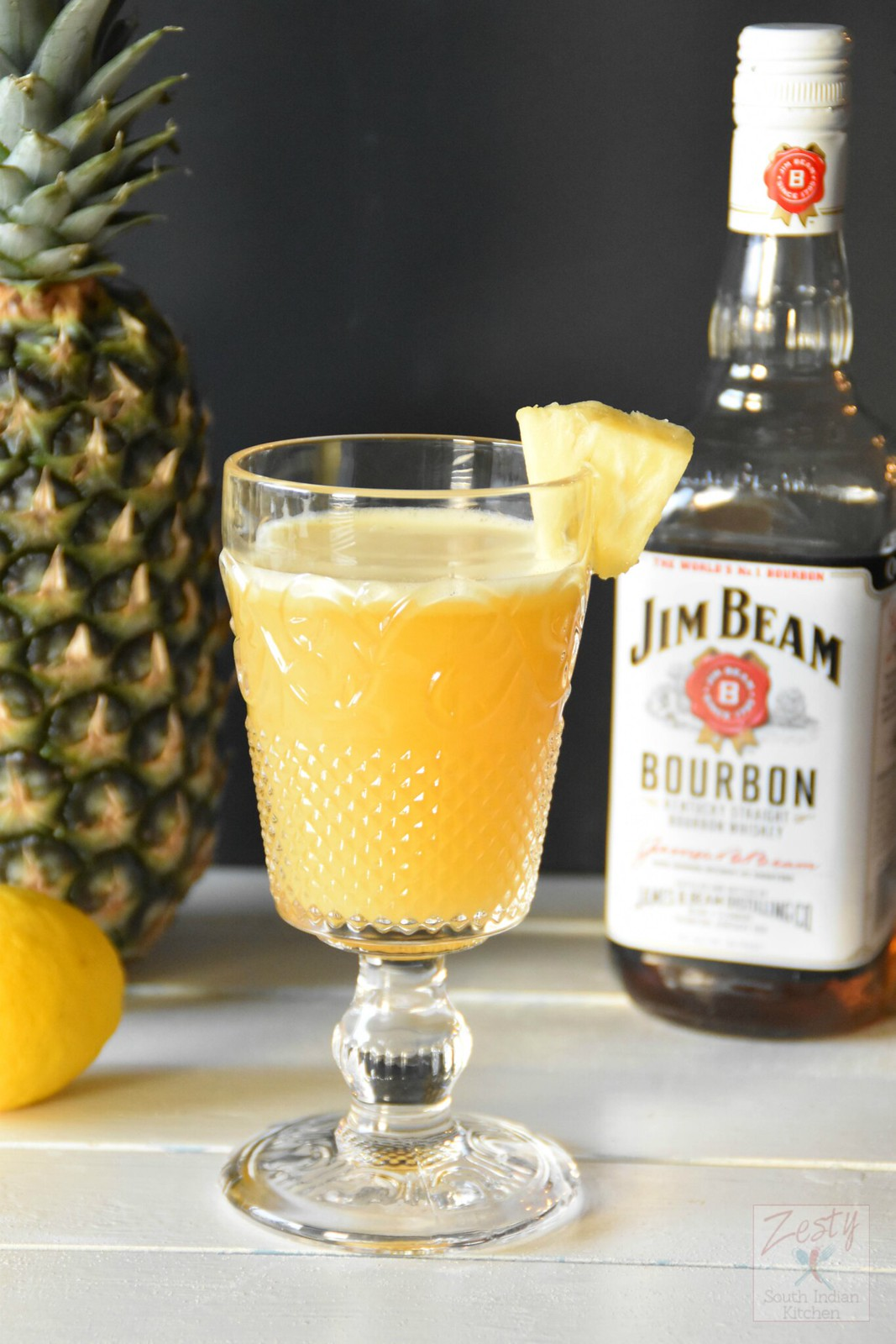 Tailgate Sipper A Pineapple Bourbon Cocktail Zesty South