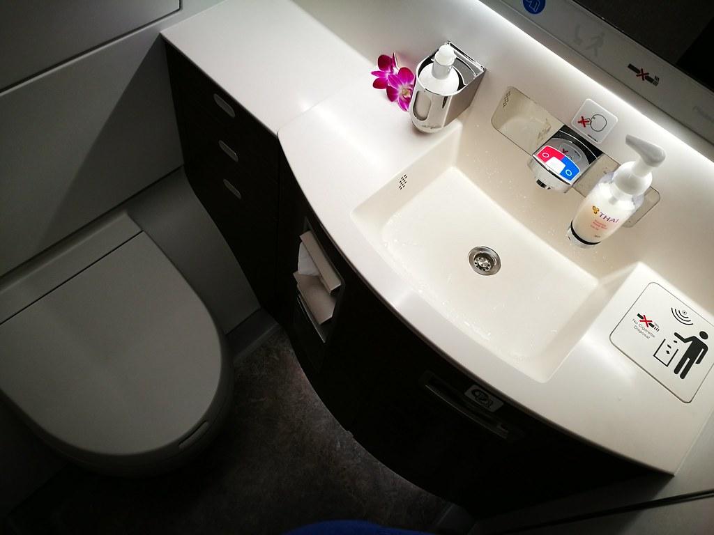 Lavatory inside the A350