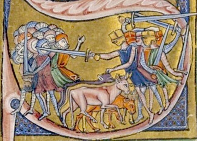 Battle of Ascalon on a medieval miniature