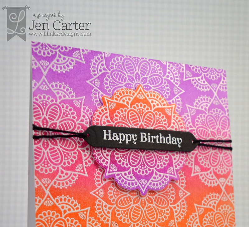 Jen Carter Modern Mandala Ombre closeup 2 wm
