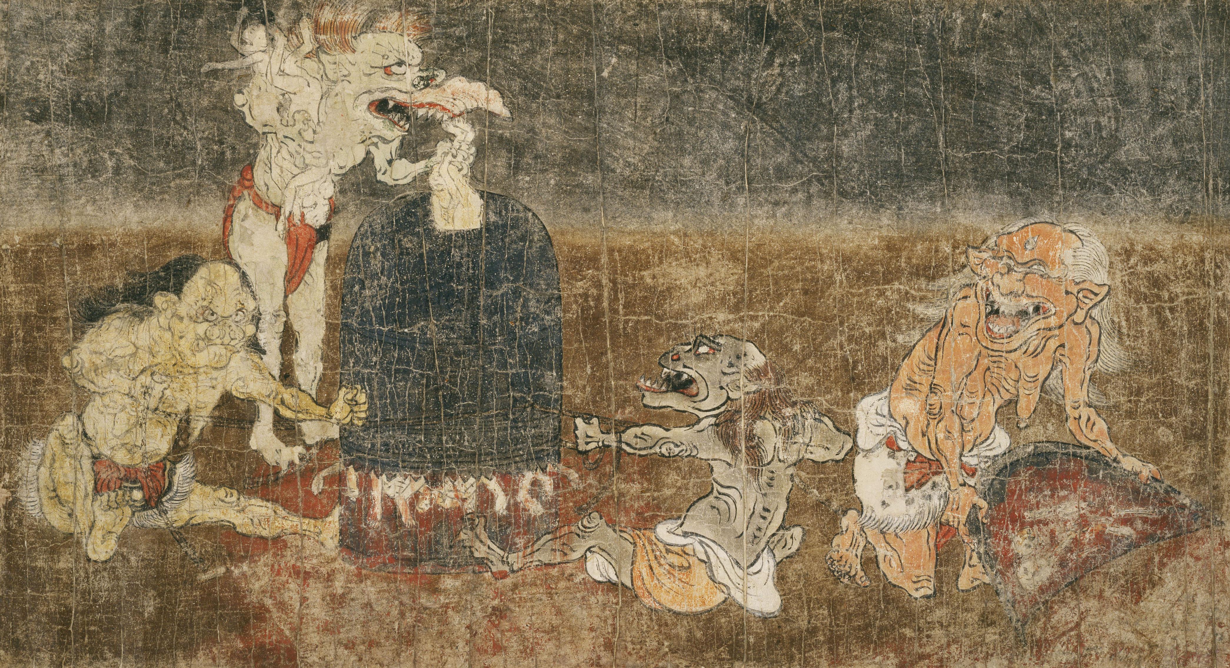 国宝《地獄草紙のうち鉄鎧所》(平安~鎌倉時代、奈良国立博物館)