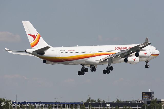 PZ-TCR Airbus A340-300 Surinam Airways Schiphol EHAM 19.06-17