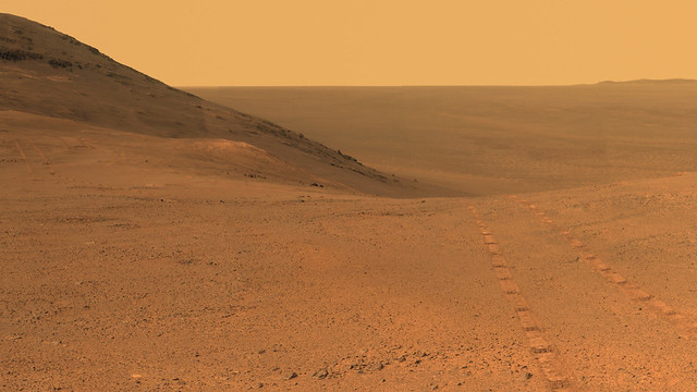 From Mars Rover: Panorama Above 'Perseverance Valley'