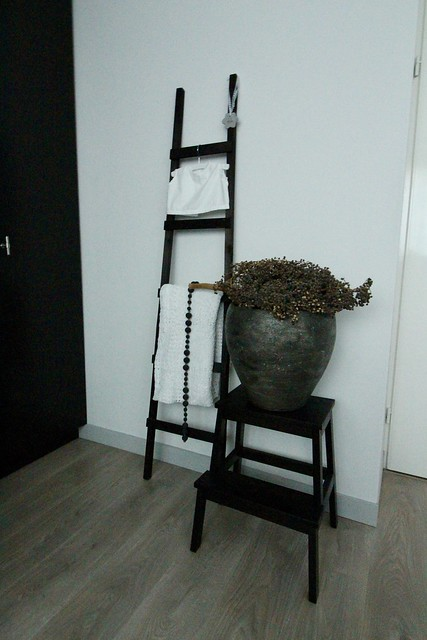 Decoratie ladder trapje kruik