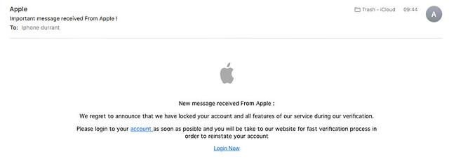 Phishing attempt.