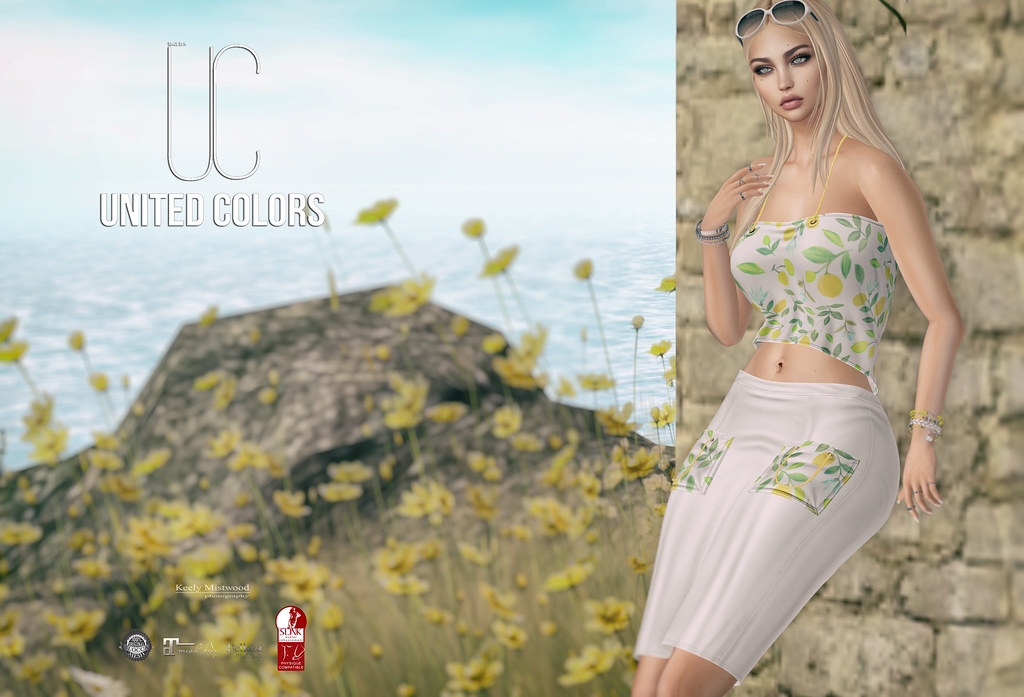 United Colors Pack Skirt and Top available in 19 colors at Cosmopolitan Event July 17. - SecondLifeHub.com