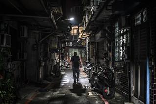 Taipei after dark, alleys