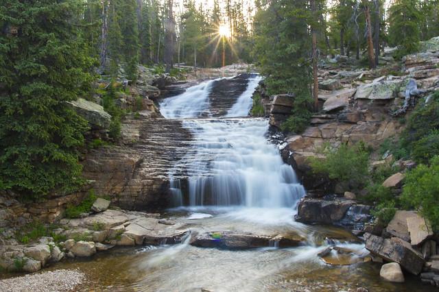 Twilight on the Upper Provo Falls [Explore]
