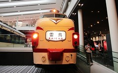 Raicho express passenger train cab car at the Kyoto Railway Museum 8538