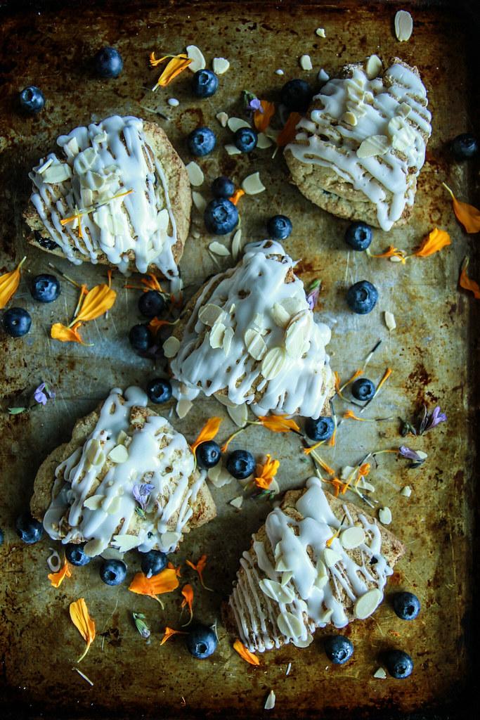 Blueberry Almond Coconut Scones from heatherChristo.com