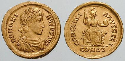 Coin of Magnus Maximus, West Roman Emperor