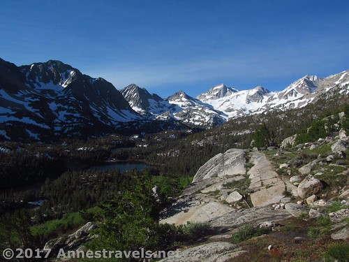 Overlooking the Little Lakes Basin en route to Mono Pass, Inyo National Forest, California