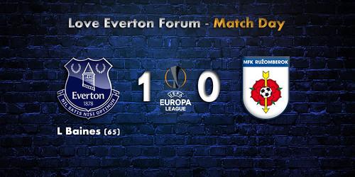 off Programm UEFA EL 2017//18 MFK Ruzomberok Everton FC