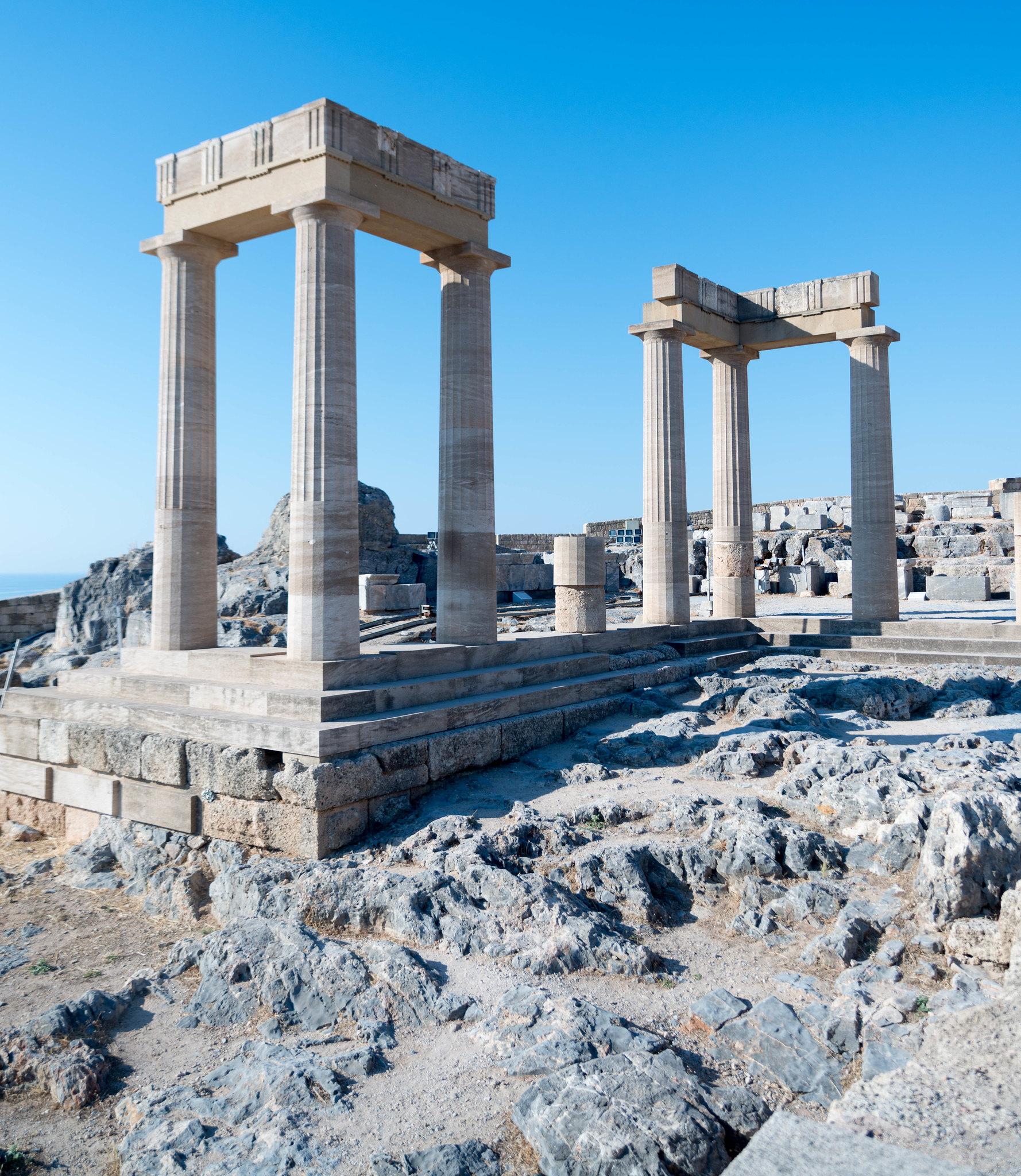 Lindos Rhodes Greece Acropolis