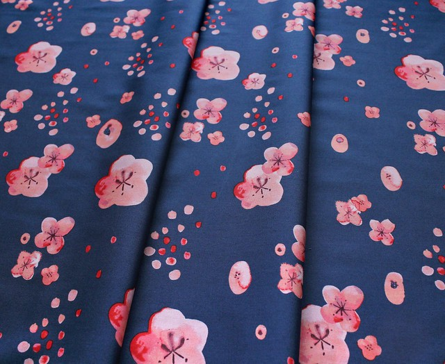 Monaluna Haiku 2 Cherry Blossoms Dusk Poplin