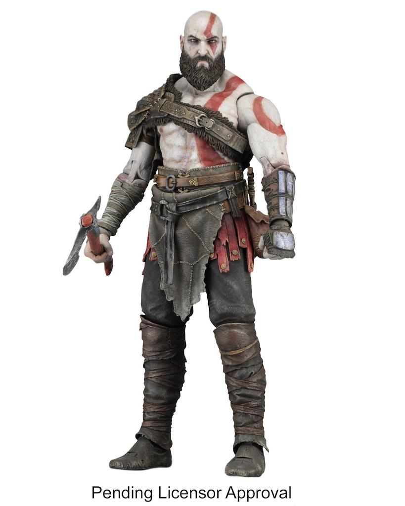 NECA 戰神【奎托斯】God of War (2018) Kratos 7 吋可動人偶作品